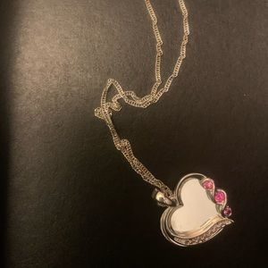 Cute chain with heart shape pendant
